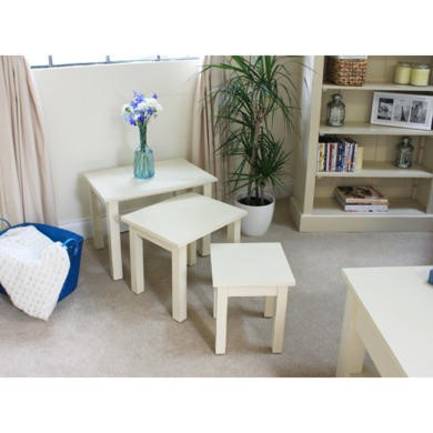 Baumhaus Cadence Nest of Three Tables in cream