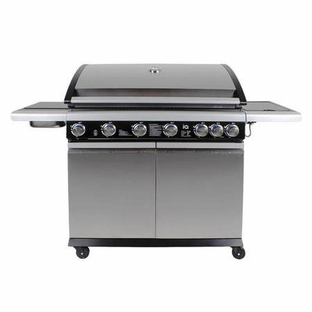The Alabama Elite 6 Burner Gas BBQ In Stainless Steel