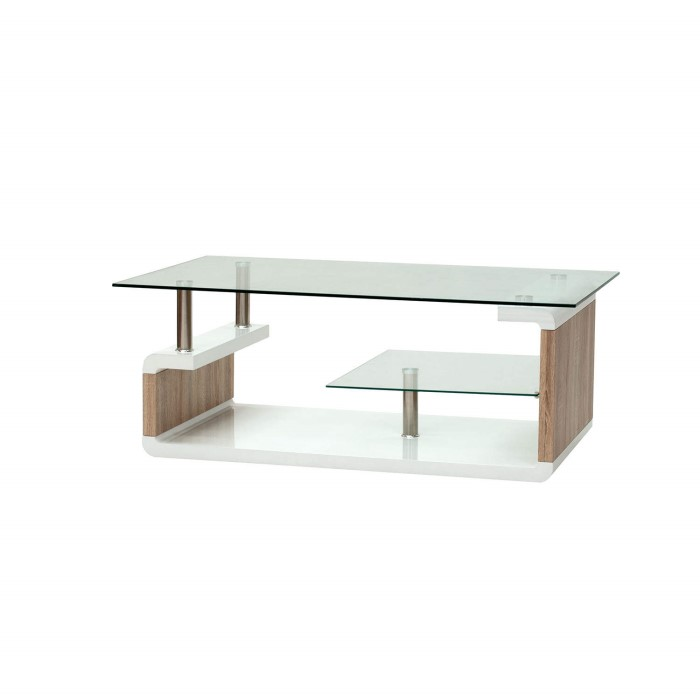 Wilkinson Furniture Isis Oak Coffee Table With Glass Top Furniture123