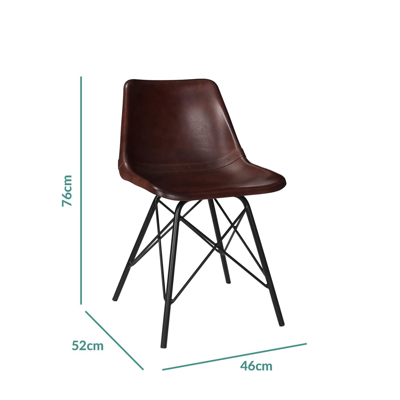 Pleasing Industrial Dark Red Leather Dining Chairs Jaxon Set Of 2 Creativecarmelina Interior Chair Design Creativecarmelinacom