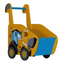 Kidsaw JCB Push Along In Yellow Black & Blue