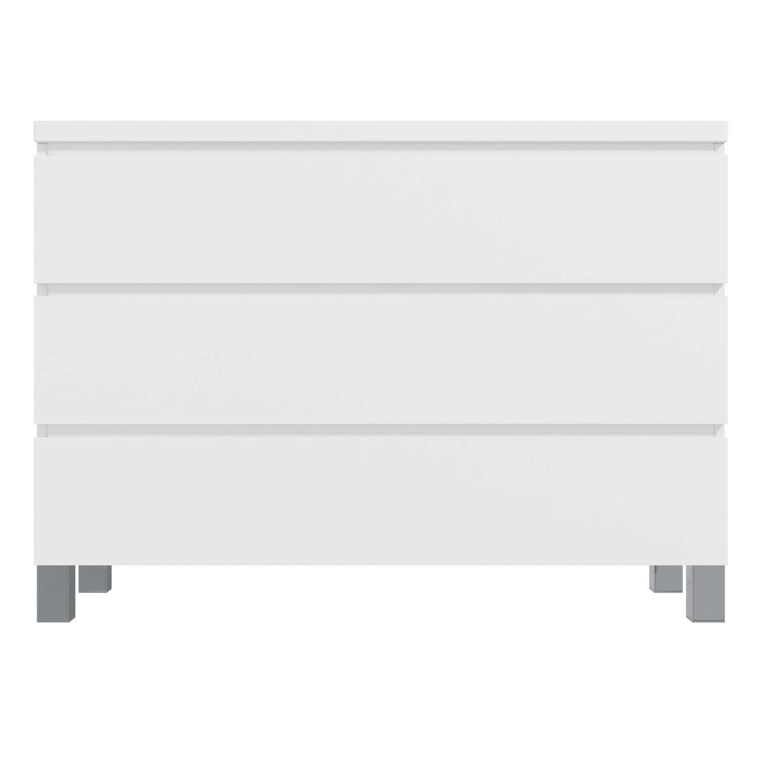Jenson White High Gloss 3 Chest of Drawers