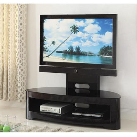 Jual Furnishings Black High Gloss Cantilever TV Stand