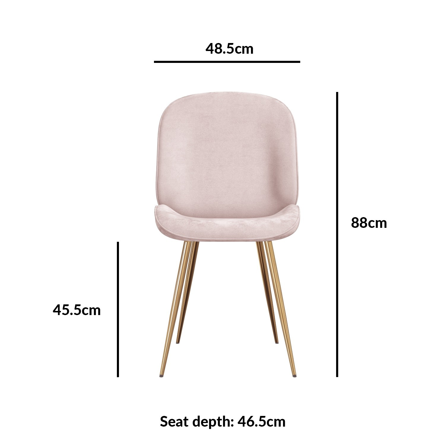Set Of 2 Pink Velvet Dining Chairs With Gold Legs Jenna Furniture123