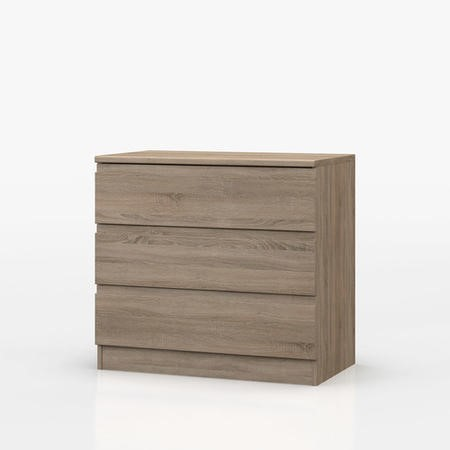 Avenue 3 Drawer Chest In Truffle Brown Oak Furniture123