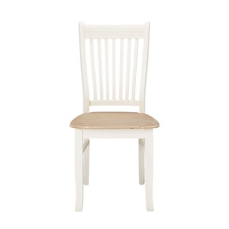 LPD Juliette Pair of Soft Cream Wooden Dining Chairs