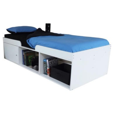 Kidsaw Low Sleeper Cabin Storage Bed In White