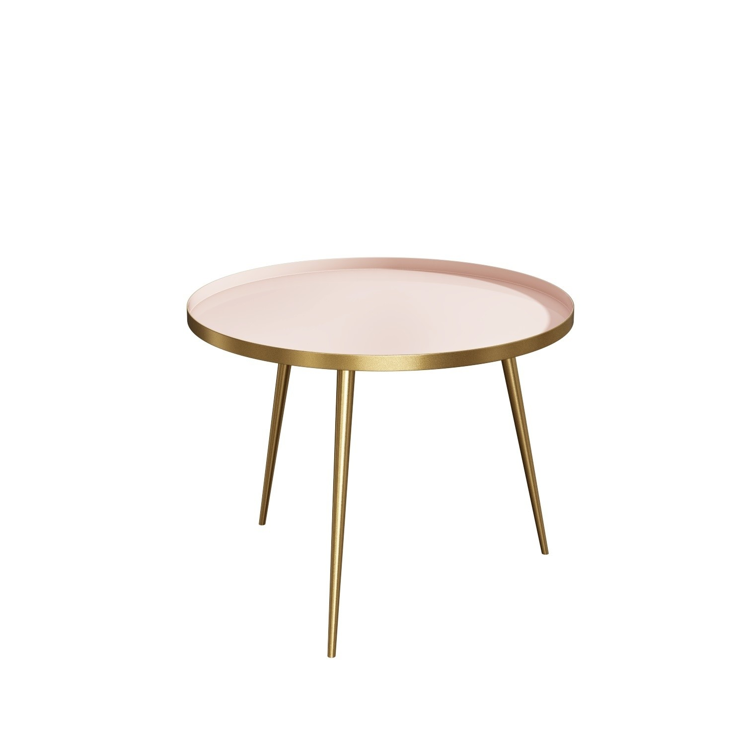 - Gold & Pink Round Coffee Table - Kaisa Furniture123