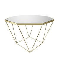 Kendra Gold & Mirrored Coffee Table