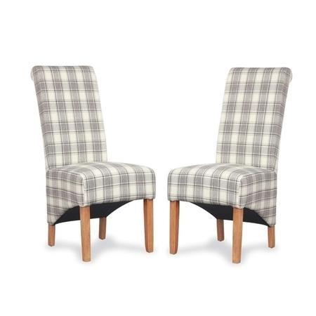 Hamden herringbone cappuccino check pair of chairs for Furniture 123 code