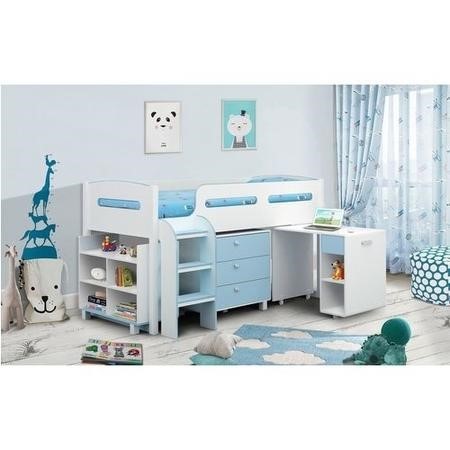 Julian Bowen Kimbo Blue Cabin Bed with Pull Out Desk