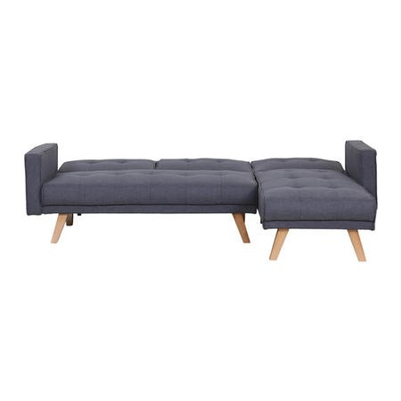 Kitson Grey Corner Sleeper Sofa Bed in Fabric