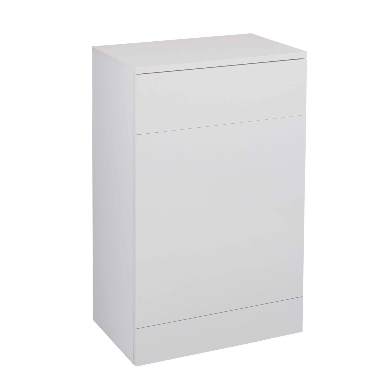 White Back to Wall WC Toilet Unit  without toilet  W500 x D300mm