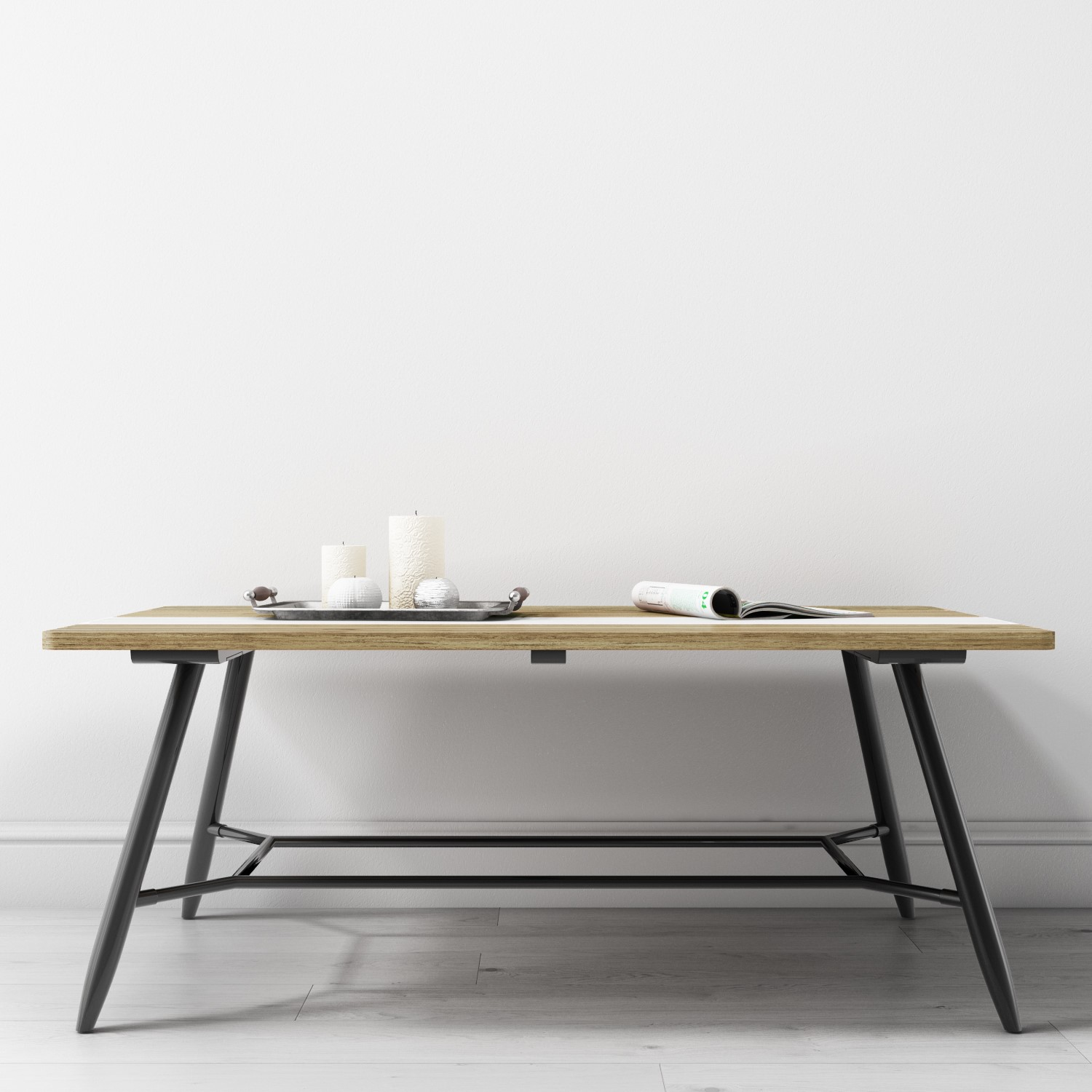 Picture of: Reclaimed Wood Coffee Table With Black Metal Legs Kuta Furniture123