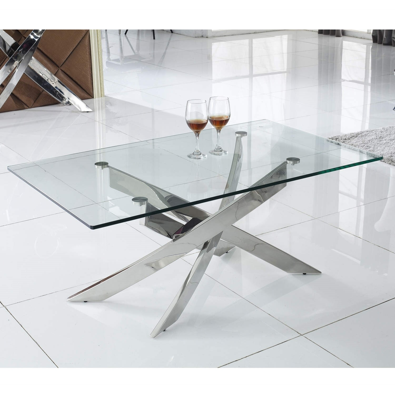 Material Coffee Table.Vida Living Kalmar Glass Coffee Table