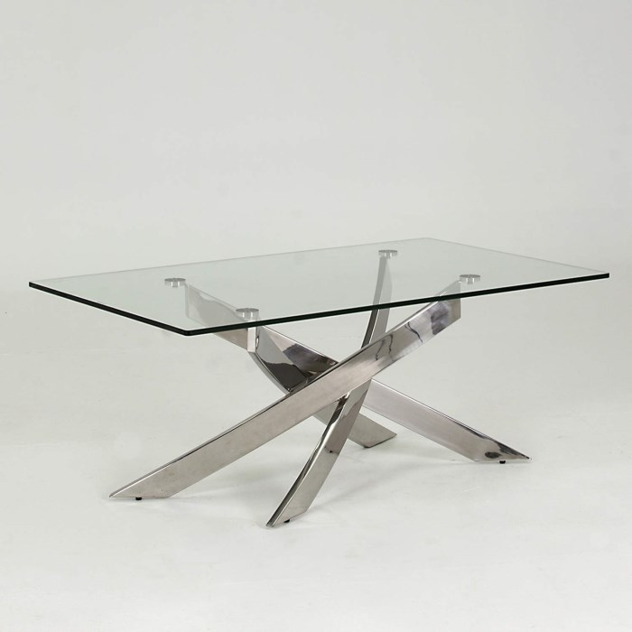 Vida Living Kalmar Glass Coffee Table