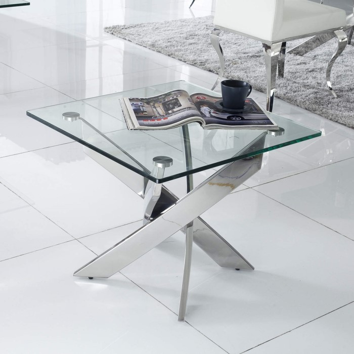Vida Living Kalmar Glass End Table