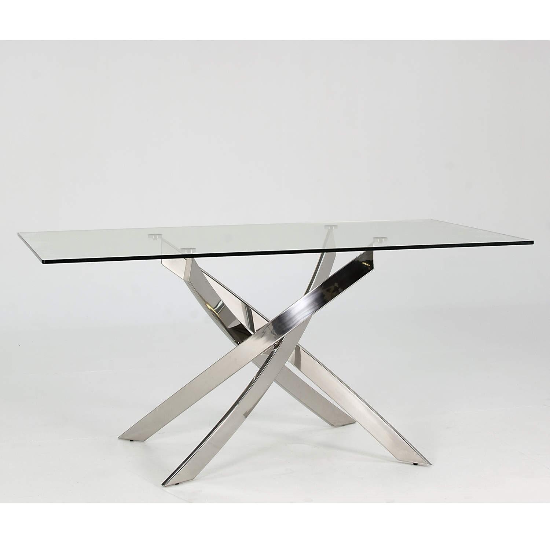 rectangular glass dining table GRADE A2   Wilkinson Furniture Kalmar Rectangular Glass 4 Seater  rectangular glass dining table