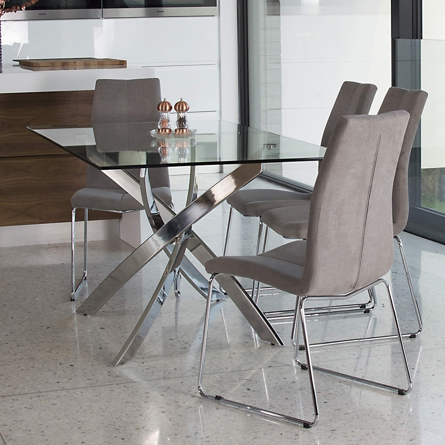 rectangle glass table and chairs> OFF 9