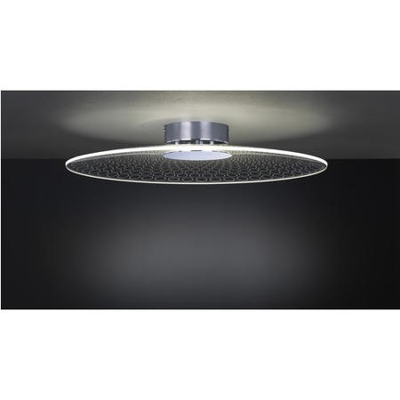 Chrome Ceiling Light with Acrylic Shade - Coco