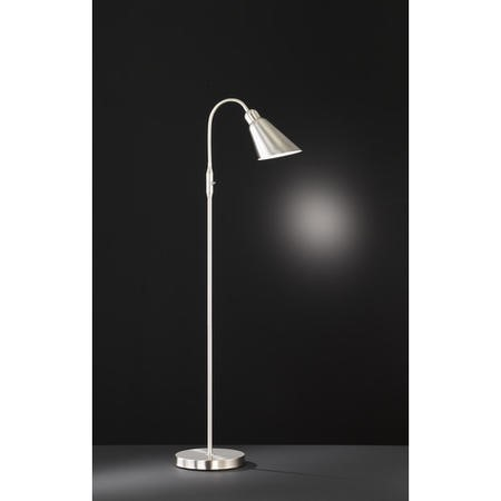 Floor Lamp in Chrome with Flexible Arm - Maurice