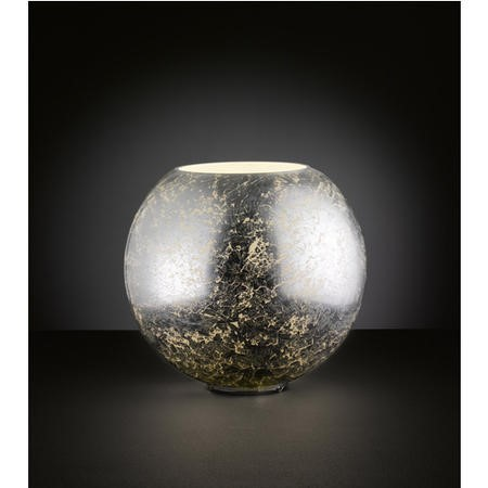 Table Lamp with Crackled Silver Finish - Fara