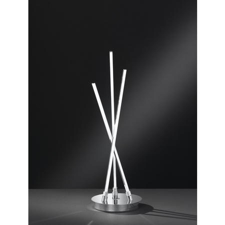 Table Lamp with Chrome Cross Over Design - Camp