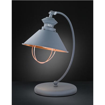 WOFi Industrial Table Lamp in Grey & Copper - Florence Range