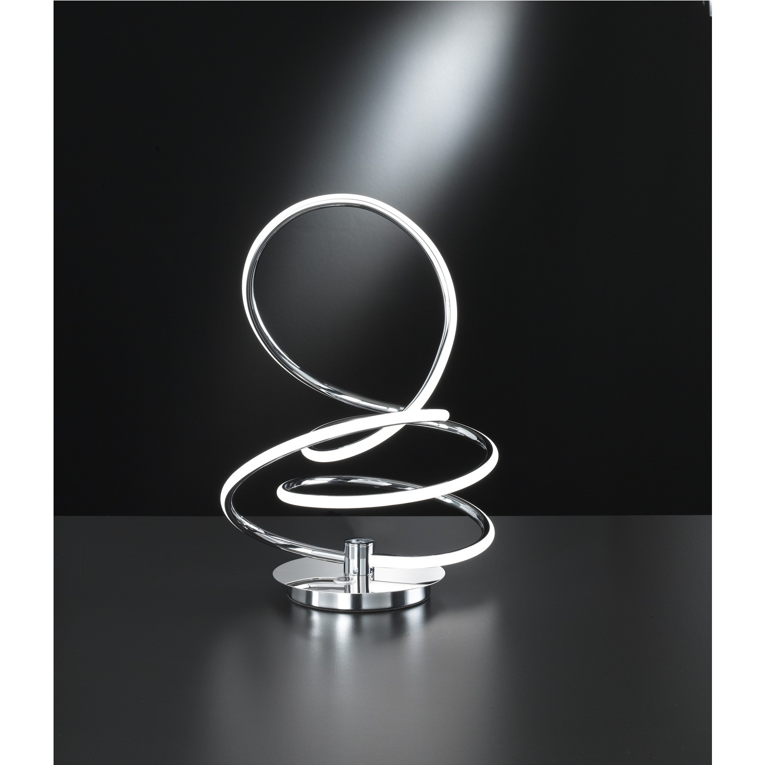 Picture of: Led Table Lamp With Chrome Twist Design Soller Furniture123