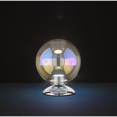 Chrome Table Lamp with Small Bubble Effect - Mia