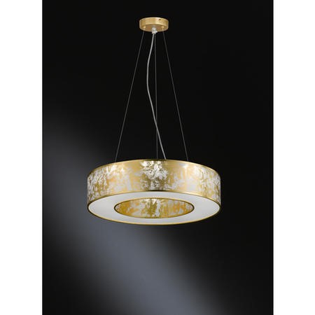 Gold Pendant Light with Speckled Effect - Leika