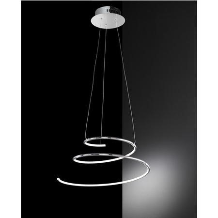 Pendant Light with Hanging Chrome Spiral - Visio