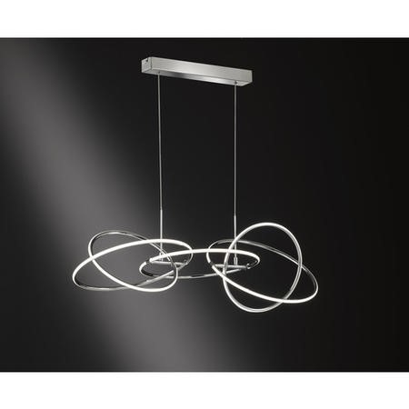 Chrome Pendant with LED Light - Spring