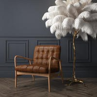 Real Leather Armchair in Tan
