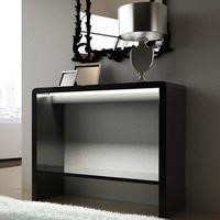 Tiffany Black High Gloss LED Console Table