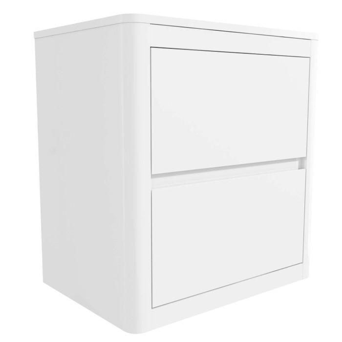 b11811baca Lexi White High Gloss 2 Drawer Bedside Table | Furniture123