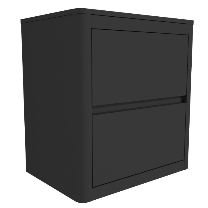 136d07bd08 Lexi High Gloss Anthracite Grey 2 Drawer Bedside Table | Furniture123