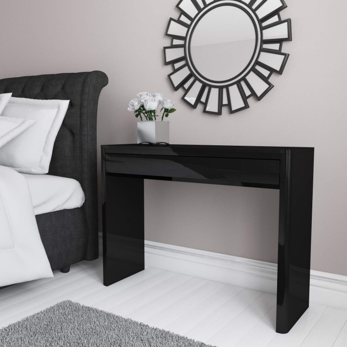 Lexi black high gloss dressing table furniture