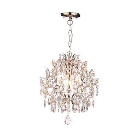 Crystal Ceiling Light in Silver & Iridescent Effect - Marlon