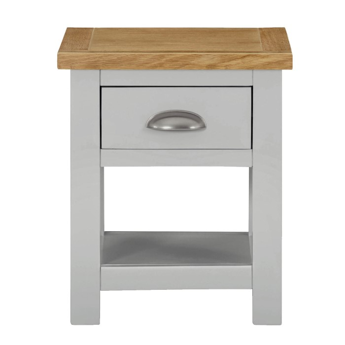 Linden lamp table in pale grey and light oak furniture123 linden lamp table in pale grey and light oak aloadofball Image collections
