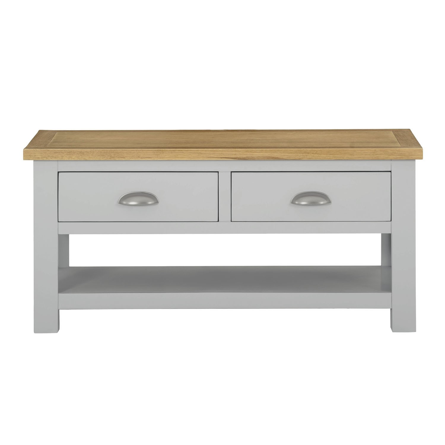 Living Room Coffee Table in Grey with Oak Top  Linden