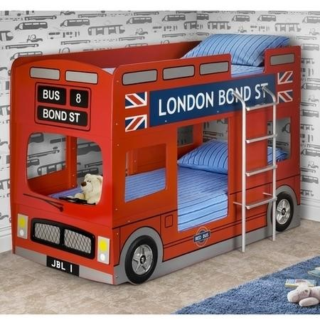 GRADE A1 - Julian Bowen London Bus Bunk Bed In Red