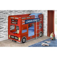 Julian Bowen London Bus Bunk Bed In Red