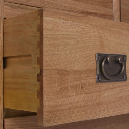 Loire Oak Farmhouse 2+3 Chest of Drawers