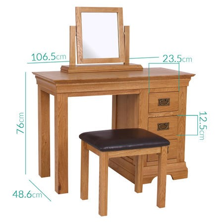 Loire Oak Farmhouse Dressing Table
