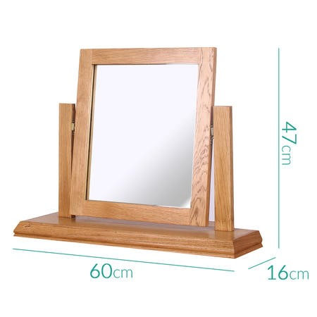 Loire Oak Farmhouse Dressing Table Mirror