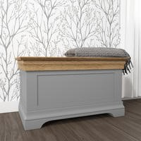 Loire Grey and Oak Blanket Box