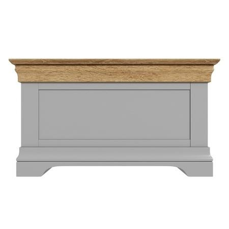 Loire Two Tone Blanket Box in Grey and Oak