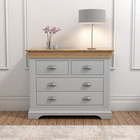 Loire Grey and Oak 2+2 Chest of Drawers