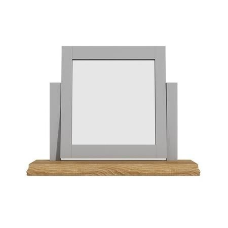 Loire Two Tone Dressing Table Mirror in Grey and Oak